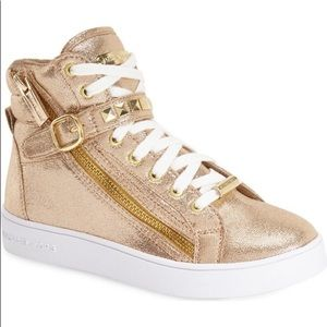 Girls Michael Kors Ivy Rory Light Bronze Sneakers